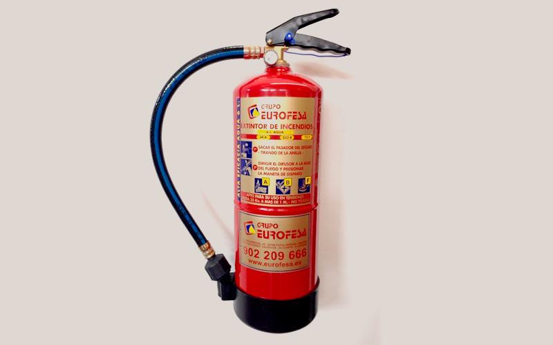 Extintor hídrico
